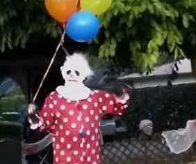 'Wrinkles' the creepy clown scares troublemakers straight