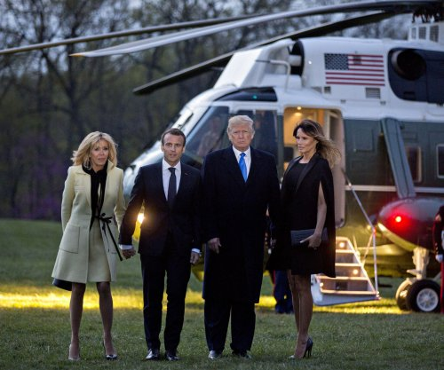 Macron, Trump return to White House after first day of 'state visit'
