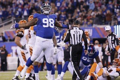 New York Giants' Damon Harrison wants to hit teammate Saquon Barkley