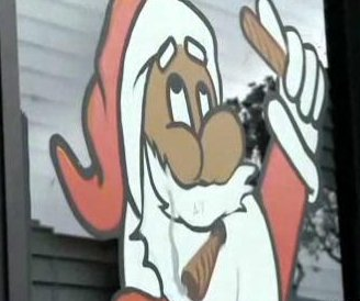 Pot shop removes smoking Santa window painting