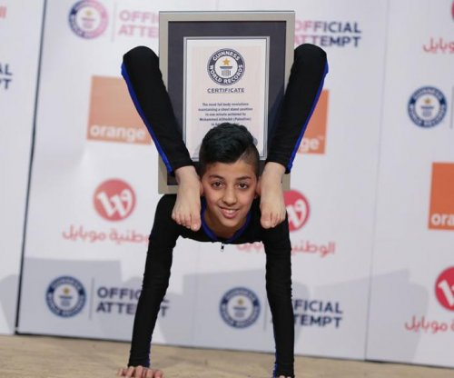 13-year-old Palestinian 'Spider Boy' sets contortion world record