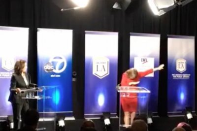 California Senate candidate 'dabs' in response to debate time limit