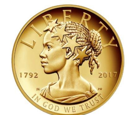 U.S. Mint releases first coin with African-American Lady Liberty