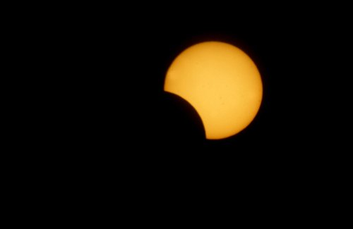 Partial solar eclipse Sunday morning