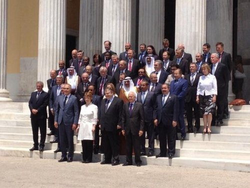 Foreign ministers from EU and League of Arab States gather in Athens