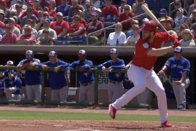 Bryce Harper hacks first homer as member of Philadelphia Phillies