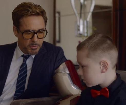 Robert Downey Jr. presents 3-D printed Iron Man arm to 7-year-old fan
