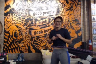 Chicago woman attempting to hula hoop for 100 hours