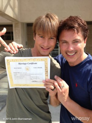 John Barrowman weds longtime boyfriend in California