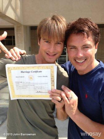 John Barrowman weds longtime boyfriend in California