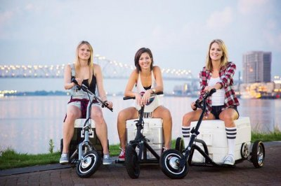Rideable cooler boasts speeds of 18 mph