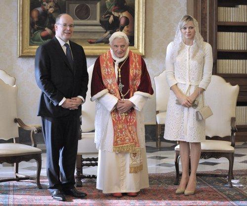 Princess Charlene and Prince Albert II of Monaco have their twin infants baptized