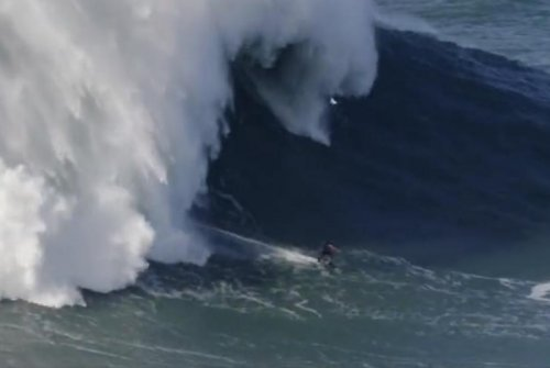 Surfer's 100-foot wave might be new record
