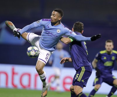 Champions League soccer: Gabriel Jesus nets hat trick in Manchester City win