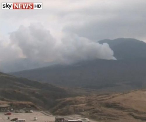 Japan's volcanic Mt. Aso erupts
