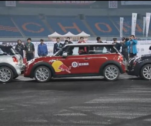 Stunt driver drifts to parallel parking world record