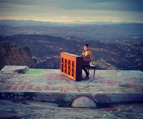 Mystery mountain piano removed after music video shoot