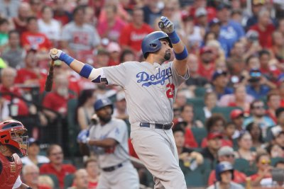 Adrian Gonzalez launches three homers as Los Angeles Dodgers rout Cincinnati Reds