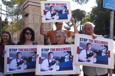 Protesters flock to Jerusalem to oppose Duterte visit
