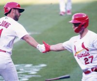 St. Louis Cardinals, New York Mets split doubleheader