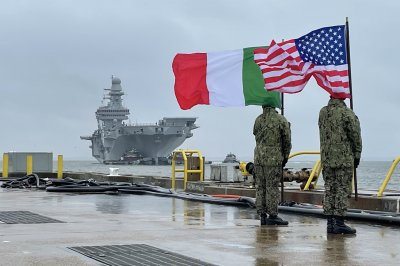 Italian aircraft carrier ITS Cavour arrives in Virginia for F-35B certification