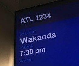 Atlanta airport jokingly offers flights to 'Wakanda'