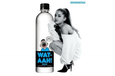 Ariana Grande signs first endorsement deal with Wat-AAH!