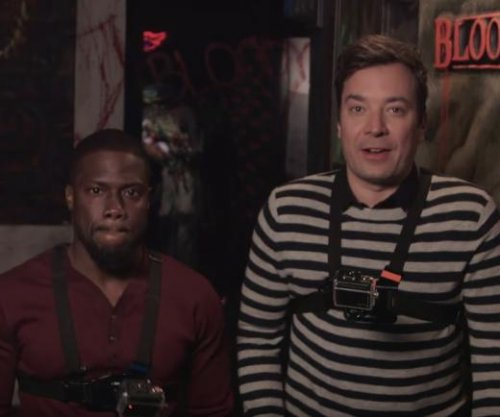 Kevin Hart, Jimmy Fallon face fear together inside a haunted house on 'Tonight Show'