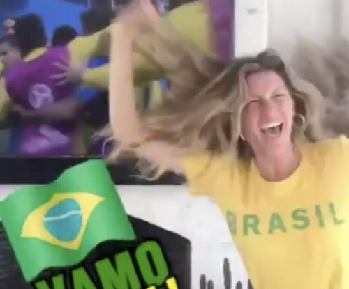 Gisele Bündchen screams in excitement for Brazil at World Cup