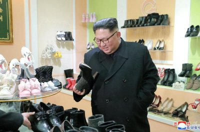 Kim Jong Un praises North Korea shoe factory, state media says