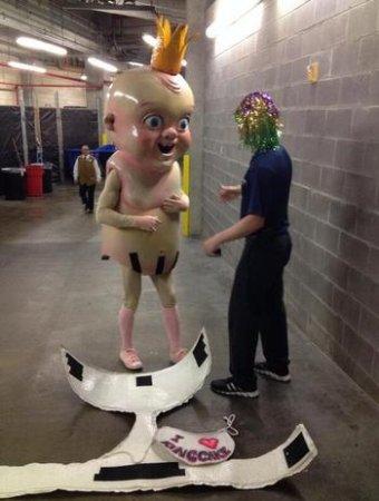 Horrifying 'King Cake Baby' returns as New Orleans Pelicans' mascot