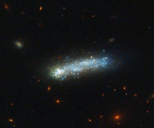 Hubble telescope spots rare tadpole galaxy