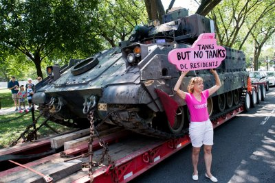 Protests, security, Army tanks abound for July 4th celebrations