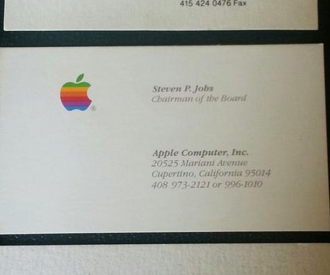 Man spends $10K on 3 of Steve Jobs' past business cards