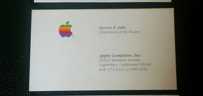 Man Spends 10k On 3 Of Steve Jobs Past Business Cards Upi Com