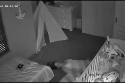 Action mom sneaks out of sleeping son's room special forces style
