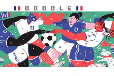 Google honors France in new Women's World Cup Doodle