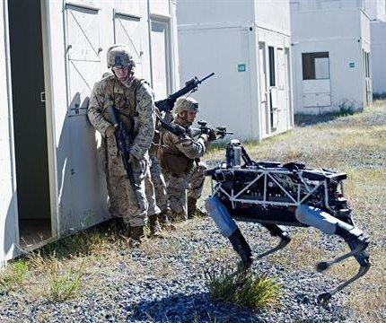 Marines send robotic dog into simulated combat