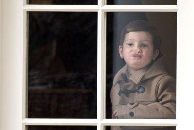 Ivanka Trump's son Joseph makes faces in White House