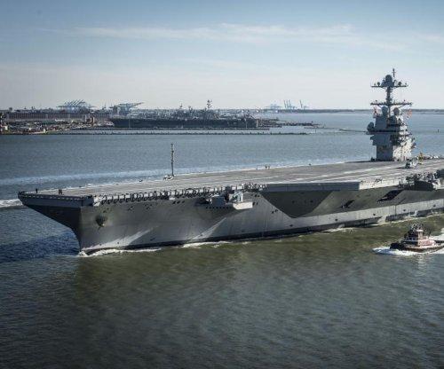 'Super carrier' USS Gerald R. Ford begins sea trials