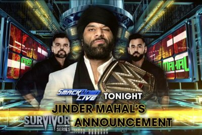 WWE Smackdown: Jinder Mahal challenges Brock Lesnar to a match
