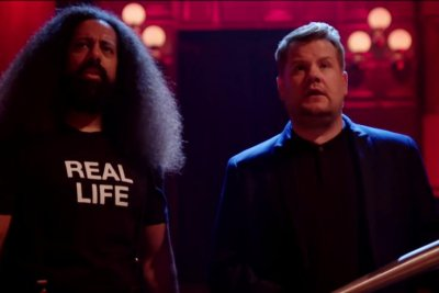 James Corden meets a creepy doppelganger in 'Us' parody