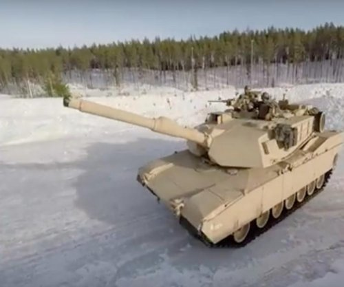 U.S. Marines in Norway learn how to drift tanks on snow