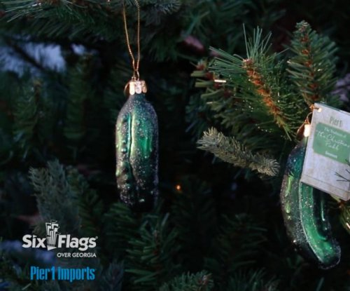 Six Flags Over Georgia sets 'Christmas pickle' world record