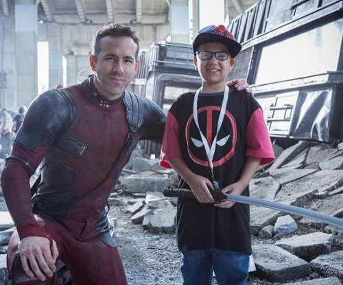 Ryan Reynolds meets with Make-A-Wish kids on set of 'Deadpool 2'