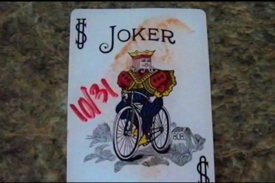 Creepy playing cards unnerve New York state neighbors