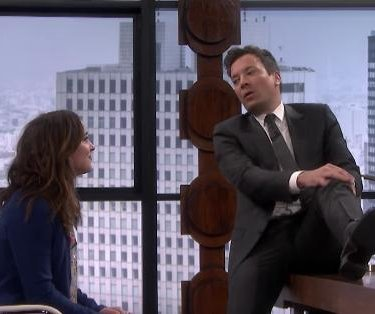 Dakota Johnson laughs through 'Fifty Shades' skit on 'Tonight Show'