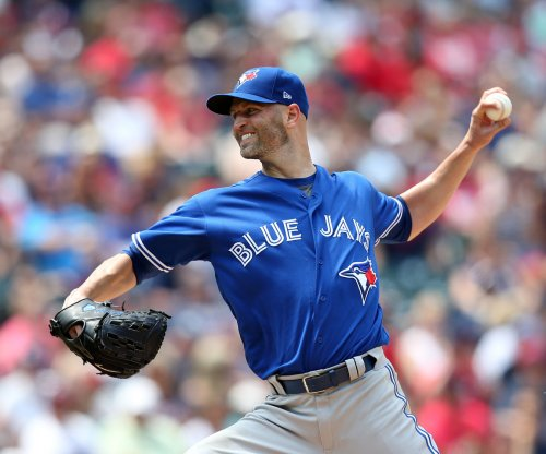 Blue Jays' Happ at home pitching in Philadelphia