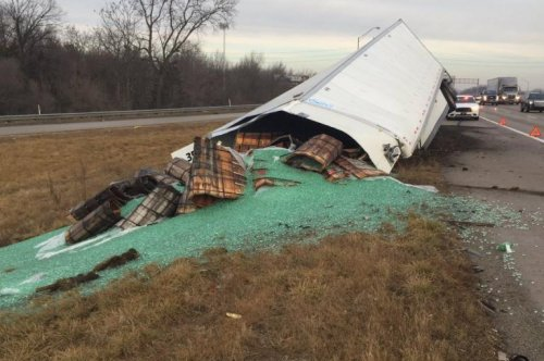 Semi trailer spills 38,000 pounds of marbles on Indiana highway
