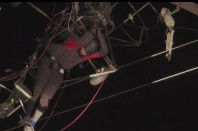 Paraglider rescued from power lines in California